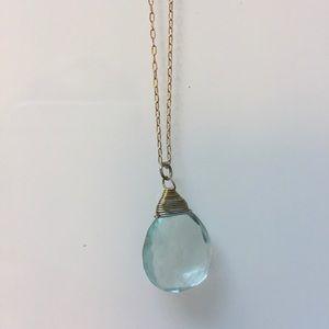 Banana Republic   Aqua Glass Necklace